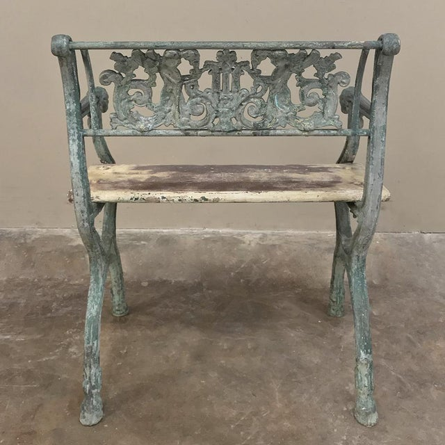 Early 19th Century French Charles X Cast Iron Armchair For Sale - Image 10 of 11