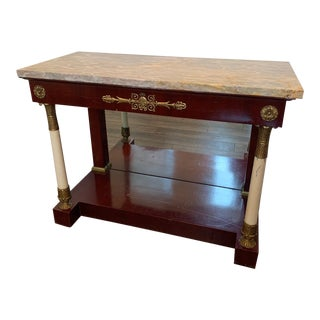 20th Century Spanish Marble Top Side Table For Sale