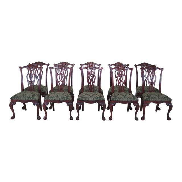 Modern Century Ball Claw Dining Room Chairs Set Of 10 Chairish