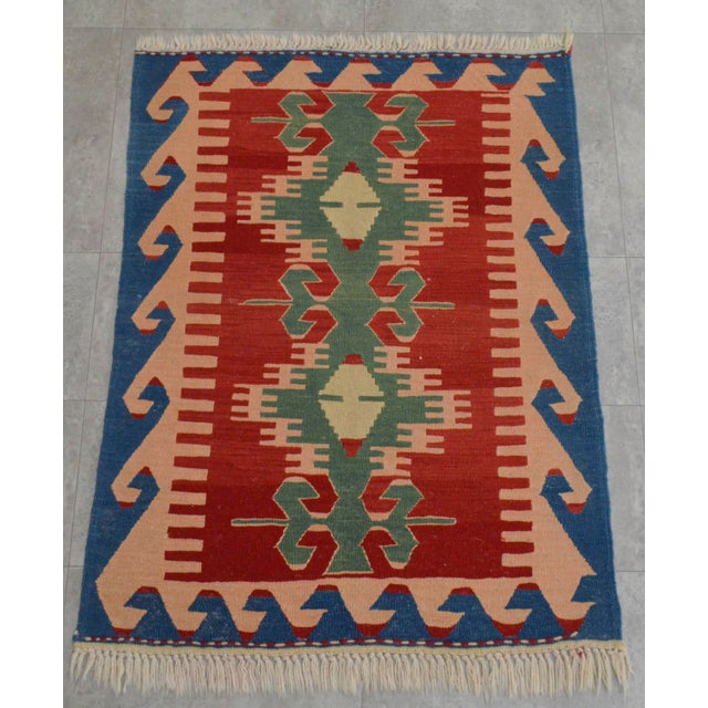 "New Turkish Hand Woven Oushak Rug - 2'11"" X 3'10"" - Image 2 of 6"