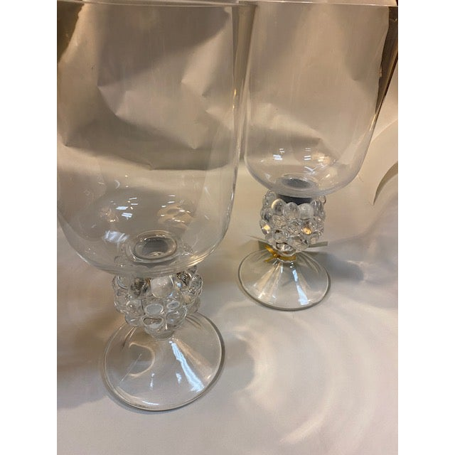 Lalique Candle Holder, Grapevine Form With Hurricane Shade - a Pair For Sale - Image 11 of 12
