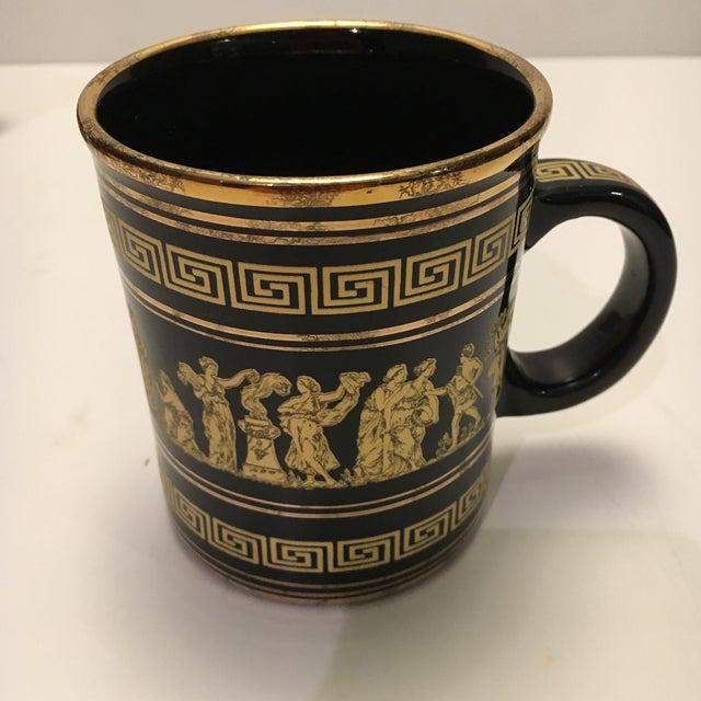 Neofitou 24k Gold Greek Key Mugs - Set of 4 - Image 6 of 9
