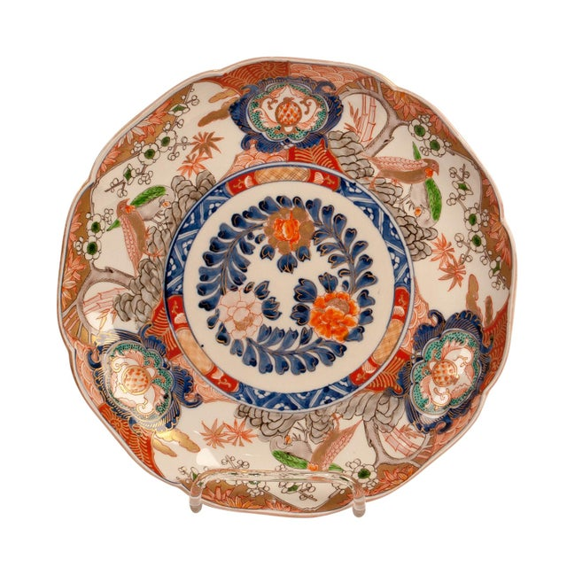 Imari Porcelain 1880s Japanese Imari Porcelain Charger Plate For Sale - Image 4 of 7