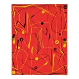 """Image of Atsuko Okamoto Abstract Serigraph A. P. """"Red Maze"""" Signed For Sale"""