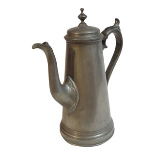 19th Century English Pewter Teapot Sheffield England For Sale
