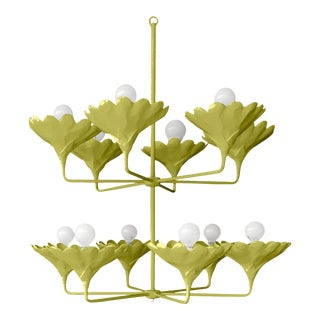 Stray Dog Designs for Chairish Arlo Chandelier, Parakeet Green For Sale