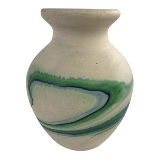 1970s Vintage Nemadji Style Pottery Vase For Sale