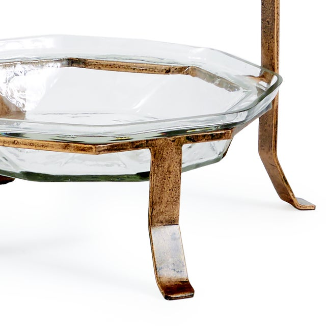 The ILana 2 Tier Glass Server As handsome as it is sturdy, the Ilana serving tray is made for a special buffet with...