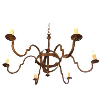"""Customizable """"Putnam"""" Hand-Forged Iron Chandelier"""