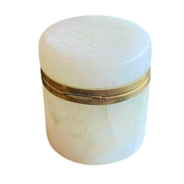 Vintage Mid Century Italian Marble Jar For Sale In Dallas - Image 6 of 7