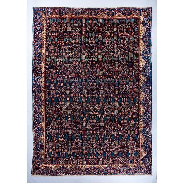 Blue Ground Oversized Bakhtiari Carpet For Sale In Los Angeles - Image 6 of 6