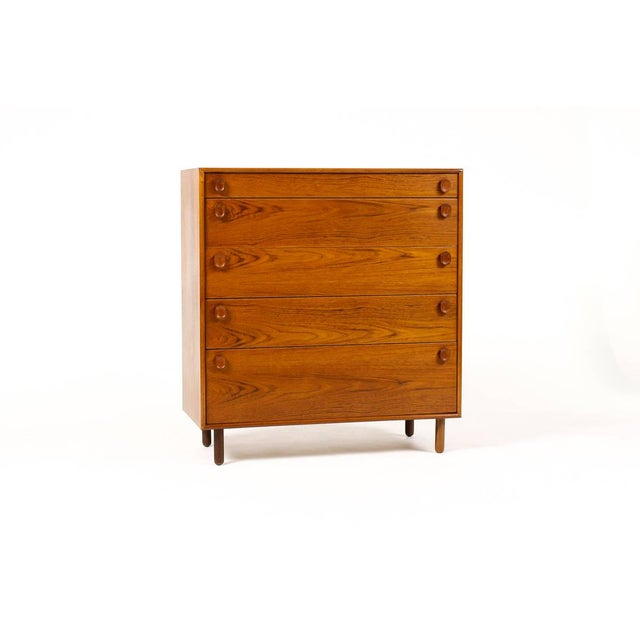 Meredew 1960s Mid Century Modern Meredew Teak Upright Dresser For Sale - Image 4 of 9