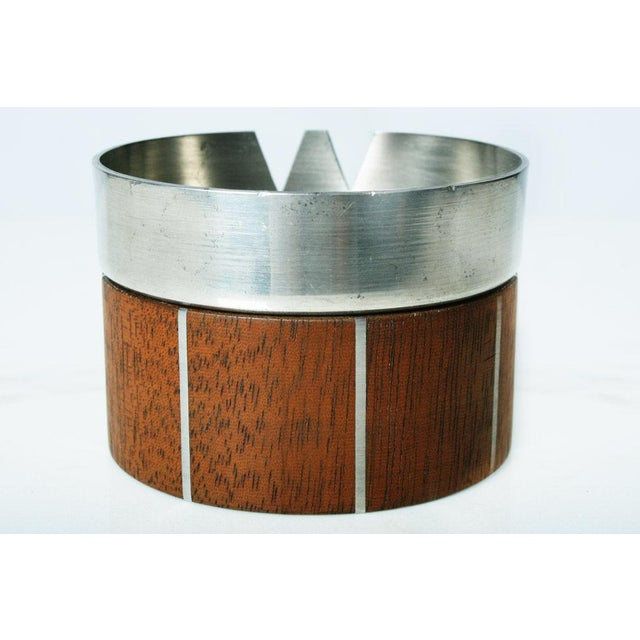 Walnut and Pewter Ashtray by Paul Evans For Sale In New York - Image 6 of 7