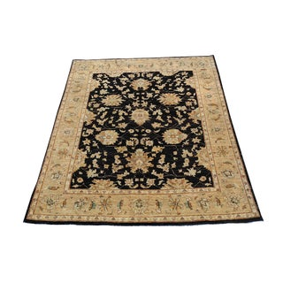 """Traditional Classic Afghani Sultan Abad Design Hand-Knotted Wool Rug - 4'8"""" X 6'5"""""""