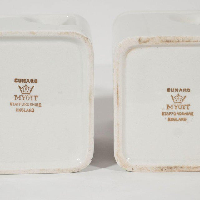 Art Deco Streamline Porcelain Coffee & Tea Pots for the Cunard Cruise Ship Line For Sale In New York - Image 6 of 8