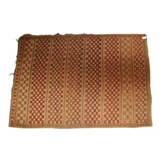 """Vintage Moroccan Straw Rug - 6'3"""" x 8'10"""" For Sale"""