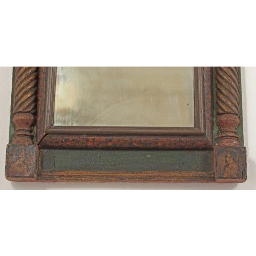 19th Century Middle-Eastern Qajar Painted Mirror For Sale - Image 4 of 5