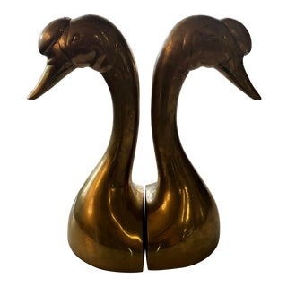 20th Century Art Deco Taste Seller by Sigma Brass Geese Bookends - a Pair For Sale