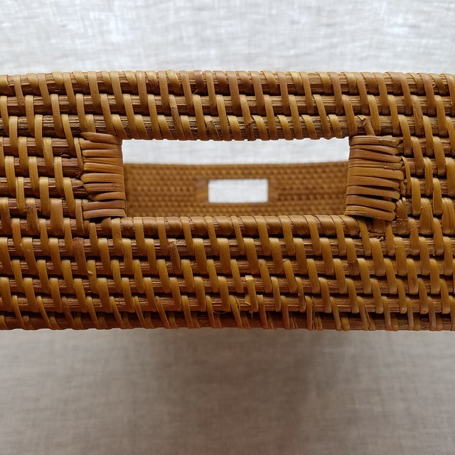 Natural Rattan Tray For Sale - Image 5 of 6