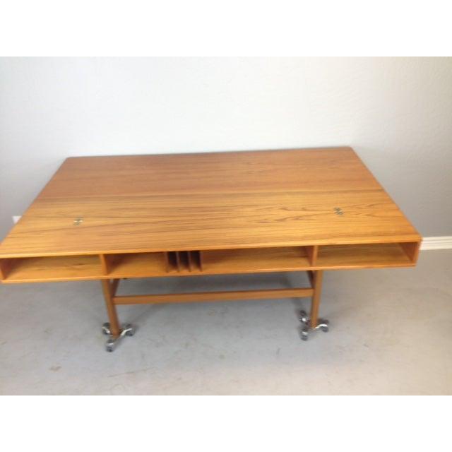 Teak Jens Quistgaard Flip-Top Console Desk in Teak For Sale - Image 7 of 9