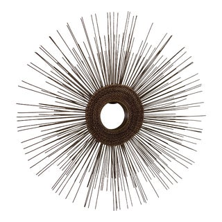 1960s Mid Century Starburst Mirror Wall Hanging For Sale