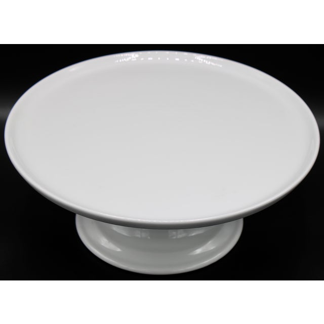 French Mid Century Pillivuyt French Cake Stand For Sale - Image 3 of 11