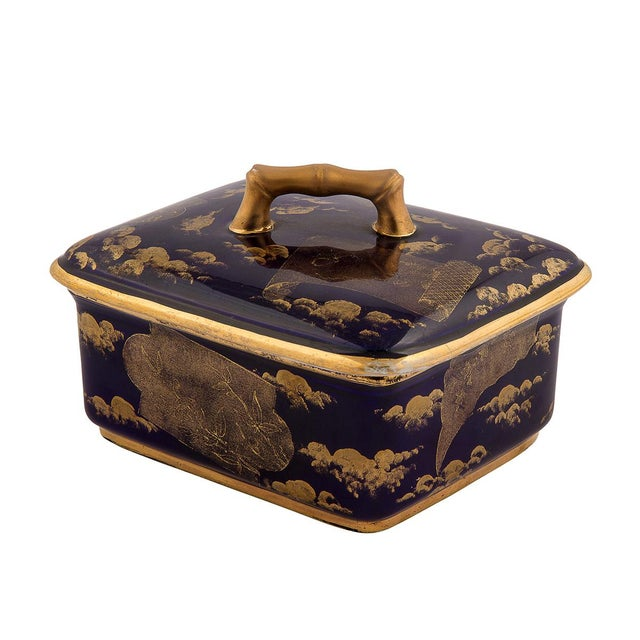 Aesthetic Movement American Aesthetic Movement Porcelain Box by Ott & Brewer For Sale - Image 3 of 8