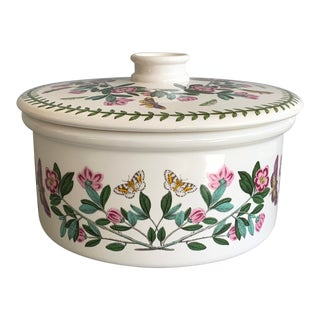 English Portmeirion Botanic Garden Rhododendron Covered Casserole For Sale