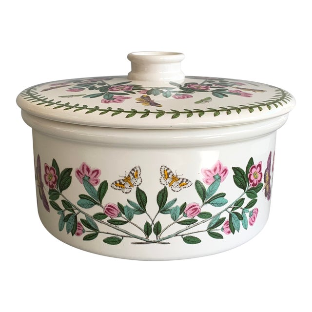 English Portmeirion Botanic Garden Rhododendron Covered Casserole Tureen For Sale