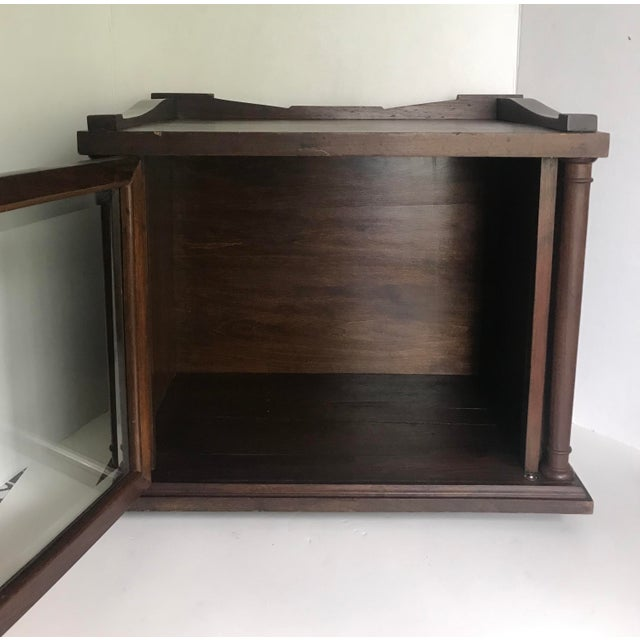 American Antique Wood and Glass Display Cabinet For Sale - Image 3 of 10