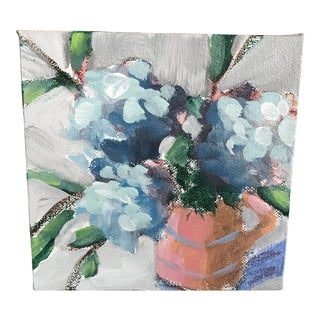 "Alice Houston Miles ""Hydrangeas"" Acrylic on Canvas Painting For Sale"