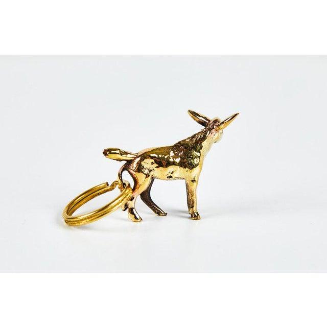 Hollywood Regency Carl Auböck Model #5608 'Donkey' Brass Figurine Keyring For Sale - Image 3 of 10