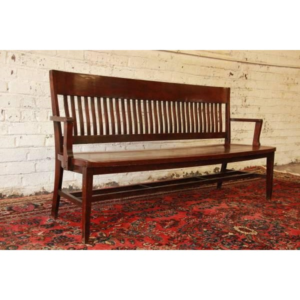 Early 1900's Lawyers Bench by Heywood-Wakefield For Sale In South Bend - Image 6 of 8