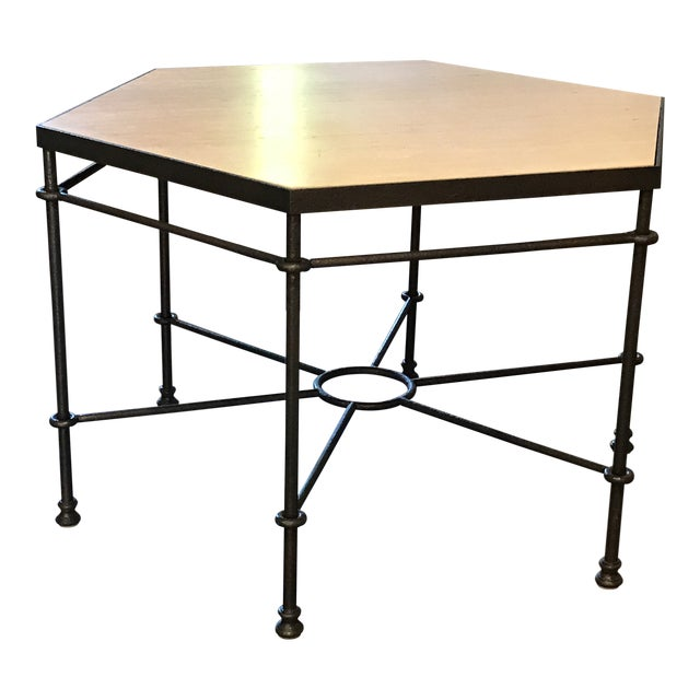 Modern Giacometti Style Hexagonal Center Table For Sale