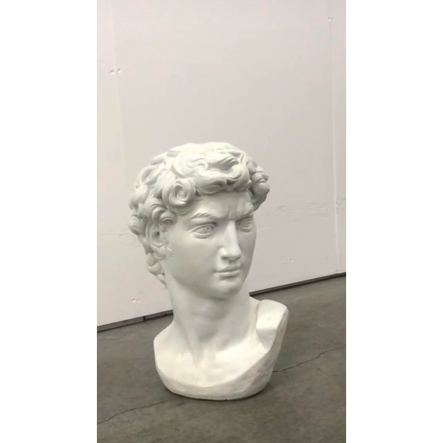 Renaissance Concrete Head of David Statue For Sale - Image 3 of 4