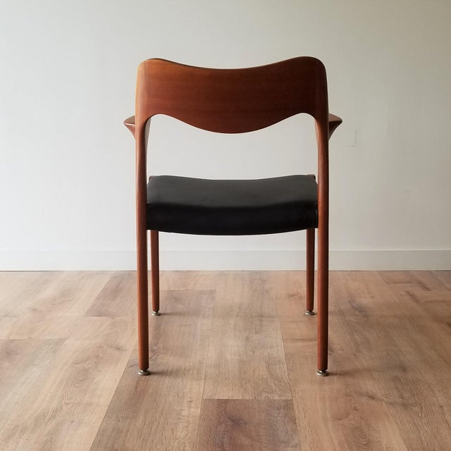 1960s 1960s Newly Upholstered Niels Moller Model 55 Dining Chair For Sale - Image 5 of 13