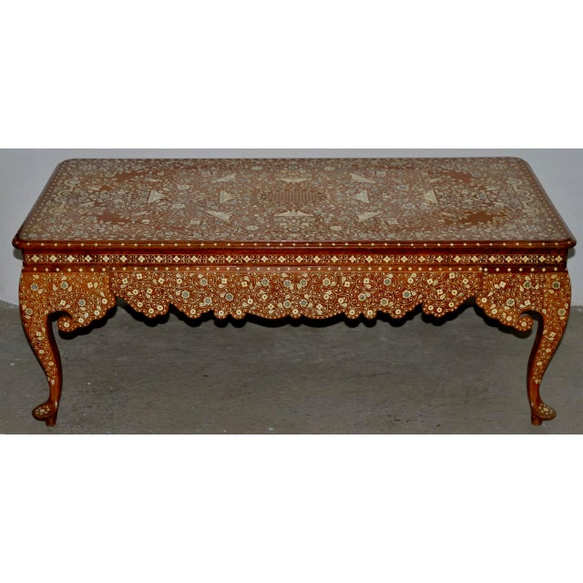 Early to Mid 20th Century Anglo Indian Inlay Coffee Table For Sale - Image 10 of 10