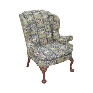 Kindel Winterthur Collection Chippendale Style Mahogany Wing Chair