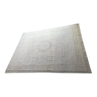Antique Oushak Rug in Neutrals and Gray - 8′9″ × 11′5″ For Sale