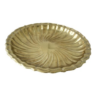 Gorham Round Brass Tray For Sale