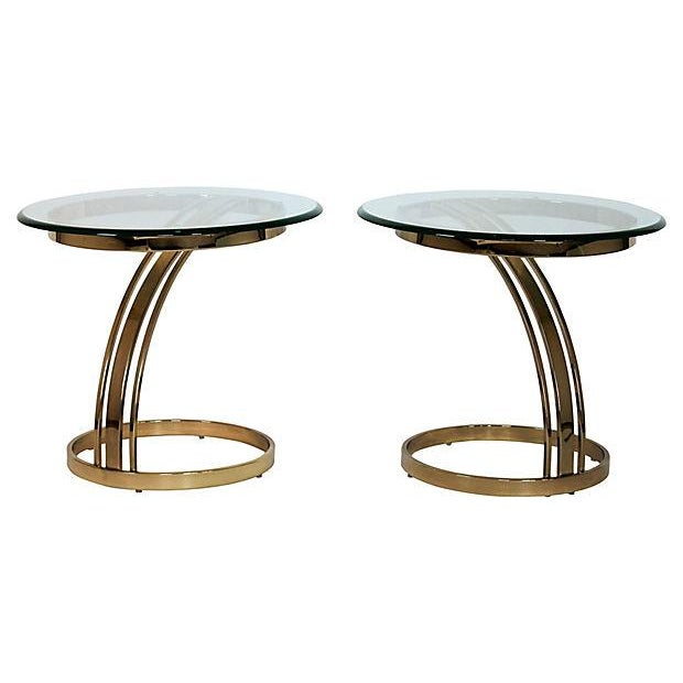 Brass & Glass Side Tables - A Pair - Image 8 of 8