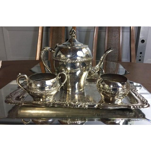 Art Nouveau Silver-Plate Tea Set - 4 Pc. Set For Sale - Image 11 of 11