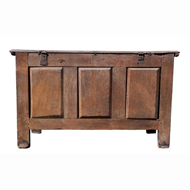 Charles II Oak Coffer For Sale - Image 11 of 12