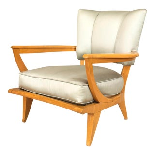 French Maple Satin Arm Chair For Sale