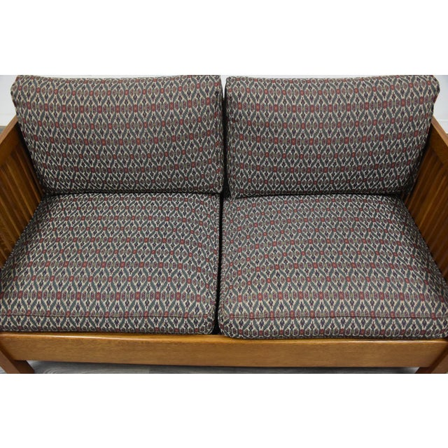 Gustav Stickley Spindled Cube Settee For Sale In Boston - Image 6 of 11