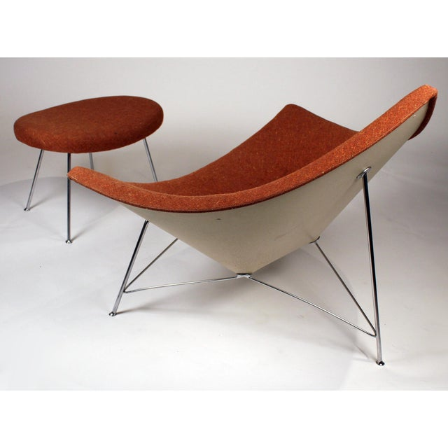 Contemporary Museum Quality Early Coconut Chair & Ottoman by George Nelson for Herman Miller For Sale - Image 3 of 10