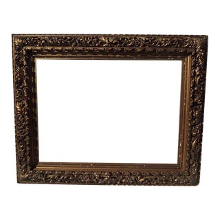 19th Century Hand-Carved & Gilded Frame For Sale