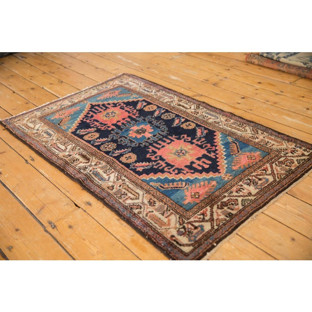 """Old New House Vintage Fine Hamadan Rug - 2'10"""" X 4'4"""" For Sale - Image 4 of 9"""