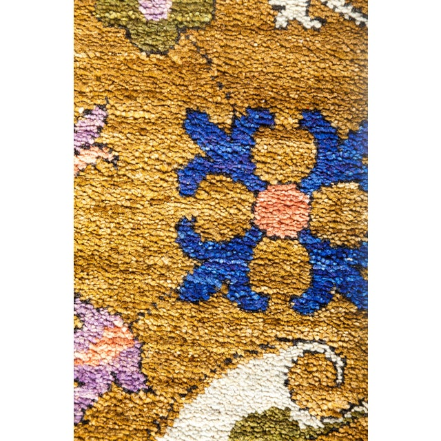 """Boho Chic Suzani Hand Knotted Area Rug - 9'3"""" x 11'7"""" For Sale - Image 3 of 4"""