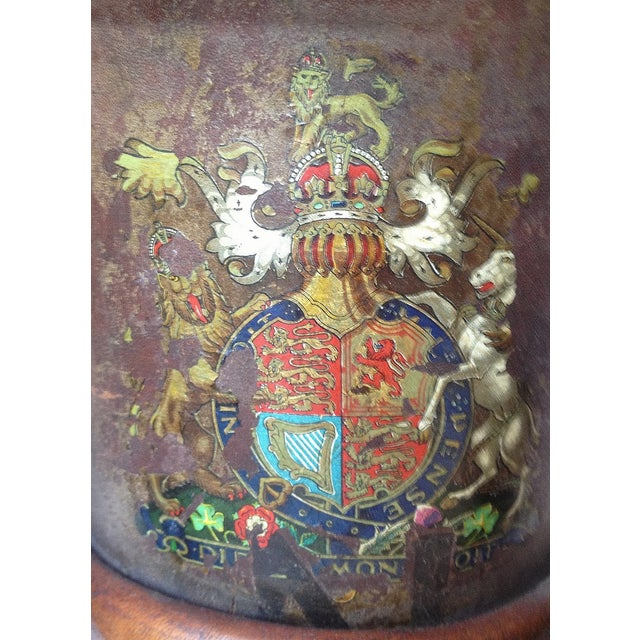 Vintage Leather Fire Bucket Lamp For Sale - Image 7 of 7